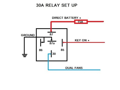 electromagnetic relay circuit diagram electric fan relay wiring diagram fuse box and wiring