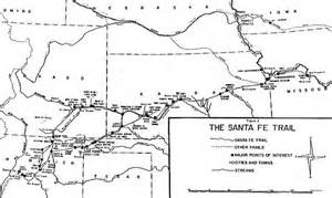 santa fe trail colorado springs map map of the santa fe trail and mileage information