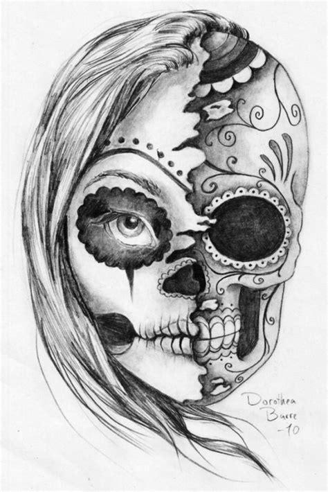 imagenes de calaveras femeninas bocetos y tatuajes de calaveras mexicanas