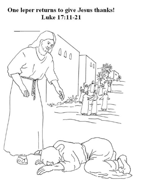 preschool coloring pages the 10 lepers google search
