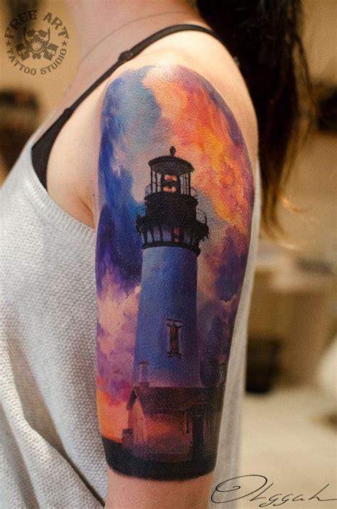 nepa tattoo club beautiful lighthouse sleeve lighthouse