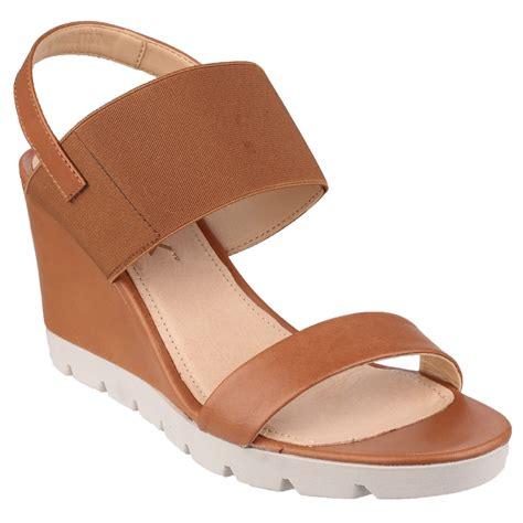 Sendal Wedges 1 the flexx womens elasticated high wedge heel sandals ebay