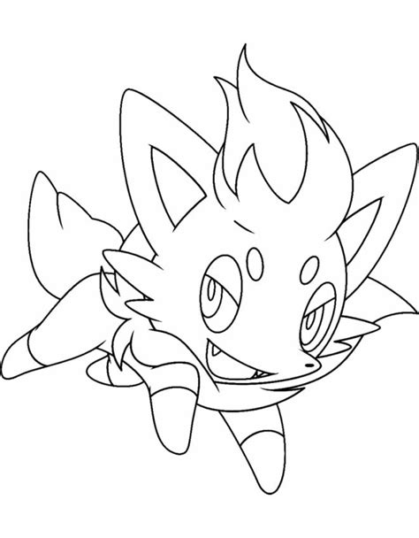 pokemon coloring pages of zorua pokemon zorua coloring pages images pokemon images