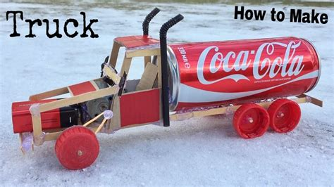 How Do You Make A Car Out Of Paper - how to make a car electric truck using coca cola can and