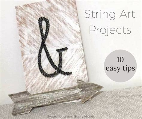 String Tips - tips for easy string projects tutorial how to diy
