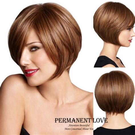 auburn wig with bangs short auburn wigs with side bangs straight bob hairstyles