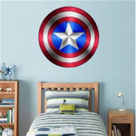 Captain America Decor by Captain America Shield Decal Removable Wall