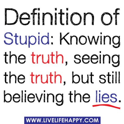 Cool Coffee Mugs For Guys by Definition Of Stupid Knowing The Truth Seeing The Truth