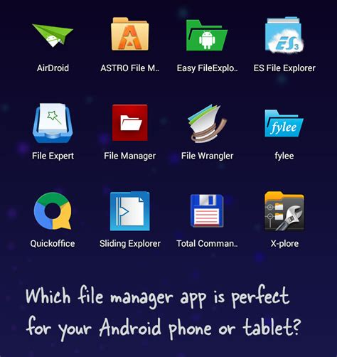 popular apps for android the best file manager apps for android phones tablets