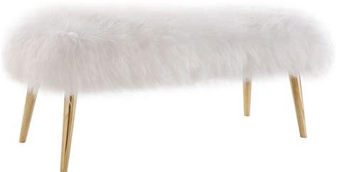 sheepskin bench churra white sheepskin bench from tov coleman furniture