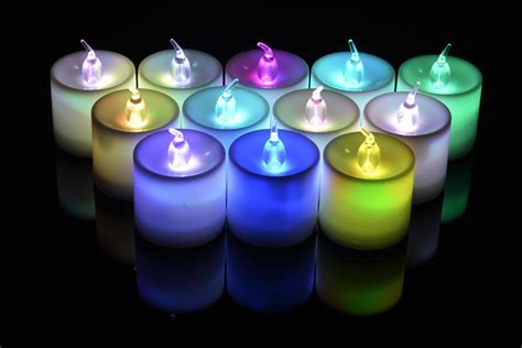 Battery Operated Candles That Change Colors by Large Rgb Color Changing Led Battery Operated Candle 12