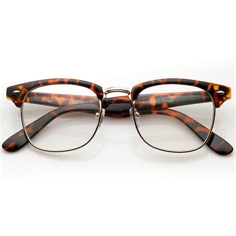 Frame Wayfarer Clubmaster Clear vintage inspired classic clubmaster wayfarers uv400 clear lens glasses 2933 ebay
