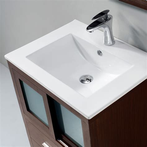 Bath Vanity Top Vigo Alessandro 24 Inch Bathroom Vanity Contains One White Top Mount Ceramic Sink