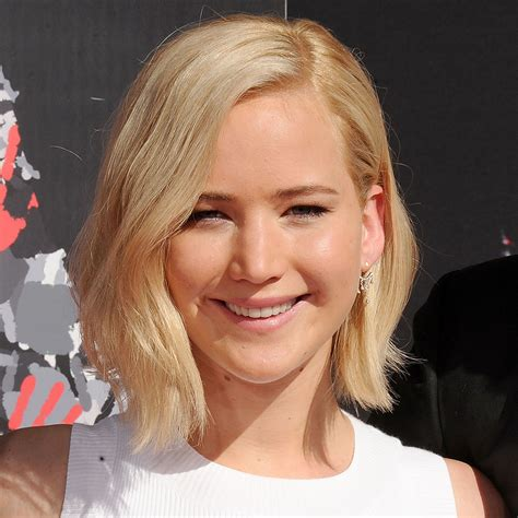 is jennifer lawrence hair cut above ears or just tucked behind you re going to totally freak out over jennifer lawrence s