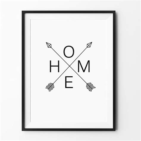 Home Design And Decor Wish App by Aliexpress Com Buy Home Arrow Print Sign Scandinavian