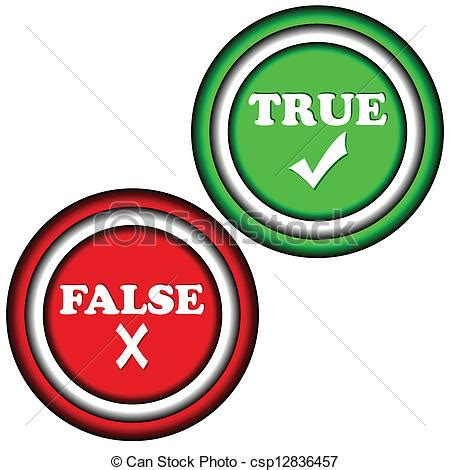 True Search On Buttons True And False On A White Background Clipart Vector Search Illustration