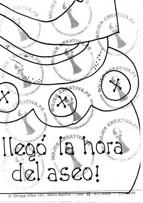cartel de aula hora del aseo manualidades en goma eva