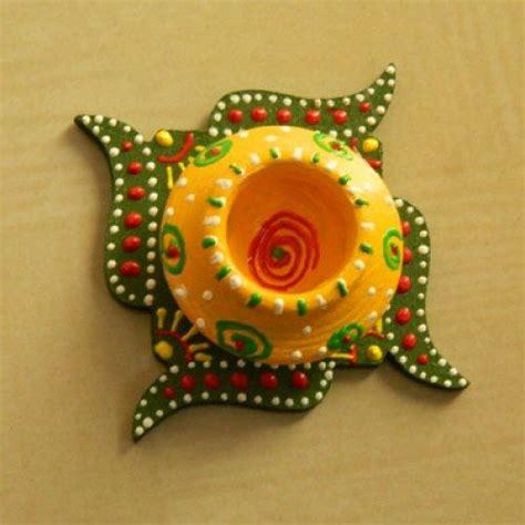 Handmade Diya Decoration - green diwali diya diwali diyas diwali diya