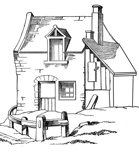 printable coloring page of house free printable house coloring pages for kids
