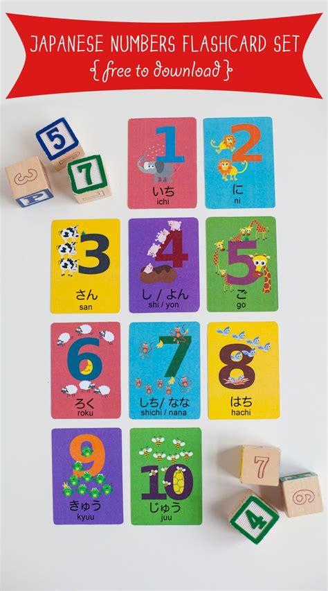 printable japanese numbers japanese numbers flashcard printable places to visit