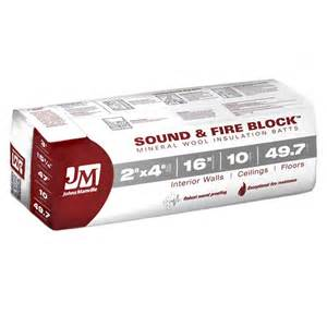 Fireplace Insulation Home Depot johns manville 15 25 in x 47 in 49 7 sq ft sound and block mineral wool insulation