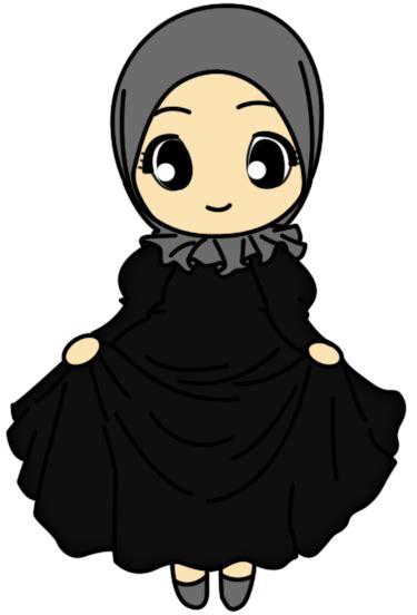 Nanda Hitam ihza aulya nanda doodle muslimah 3