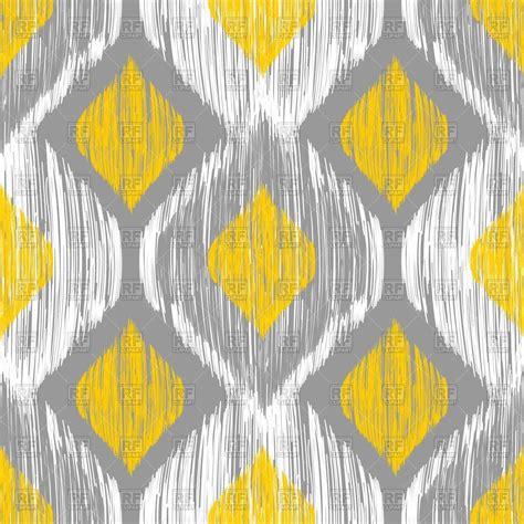 yellow gray pattern ikat ethnic seamless yellow and gray pattern royalty free