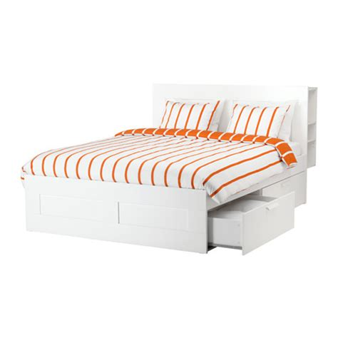 Bed Frame And Headboard Brimnes Bed Frame With Storage Headboard Ikea
