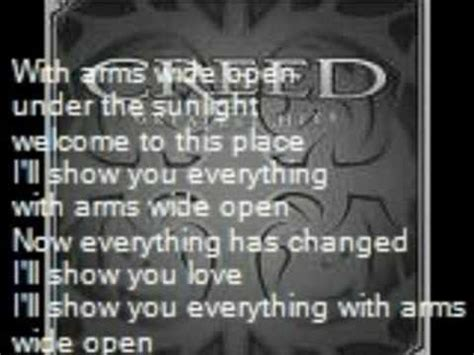 creed with arms wide open mp creed with arms wide open with lyrics youtube