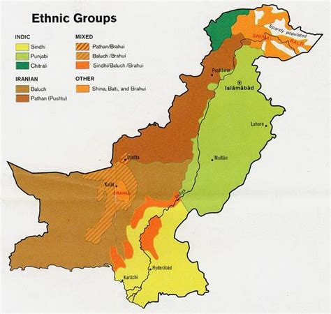 map pakistan ethnic groups informed comment