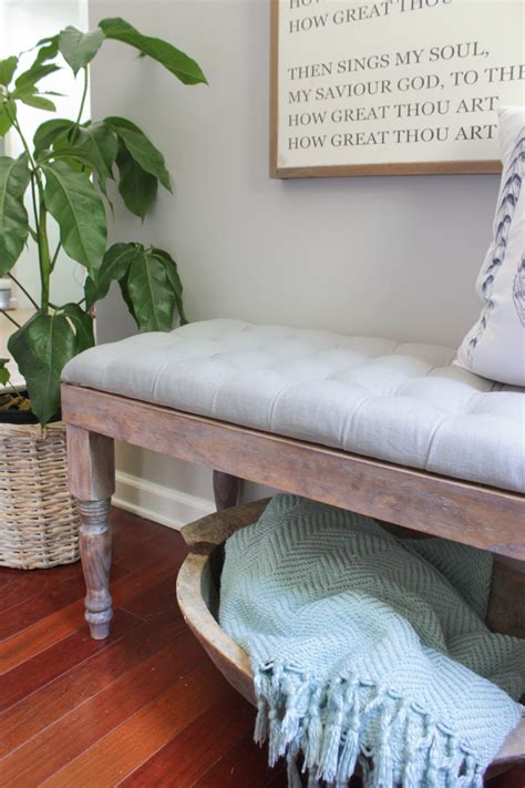 diy tufted bench diy tufted bench shades of blue interiors