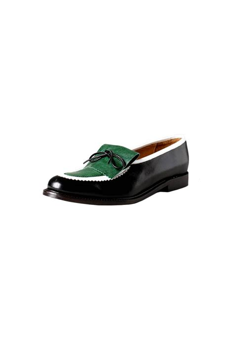 Flat Shoes E M O R Y Import Batam Rk198110517 minimarket color block leather loafers from pigalle by