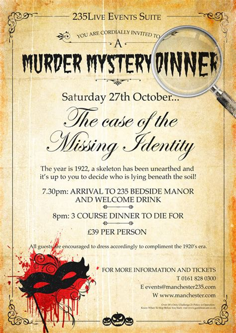 free murder mystery dinner to murder mystery dinner at manchester235 casino