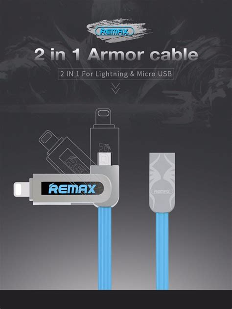 Remax Data Cable Armor 2 In 1 Rc 067t authentic remax rc 067t armor 2in1 end 3 12 2018 12 00 pm