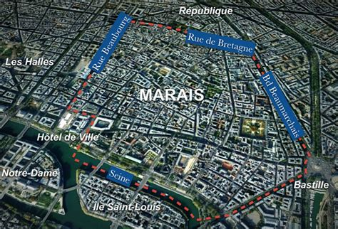 marais map marais district moments