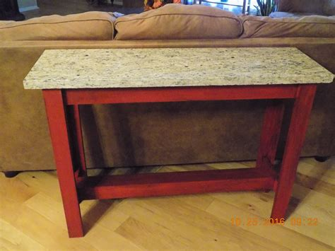 granite sofa table white sofa table with granite top diy projects