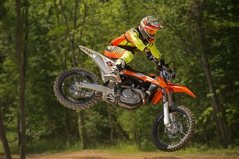 ktm motocross bikes dirt bike magazine first ride ktm xc f sx f for 2016