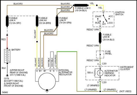 Alt Wiring Diagram For 1990 Mercury Grand Marquis 5 0 Motor