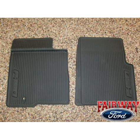Ford Floor Mats F150 by 09 10 Ford F 150 F150 Oem Black Rubber All Weather Floor Mat Set 2 Pc Reg Cab Ebay