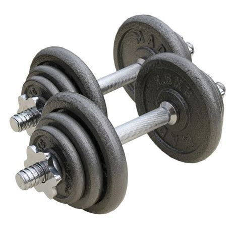 Dumbel Barbel fitness mad 20kg adjustable dumbbell set