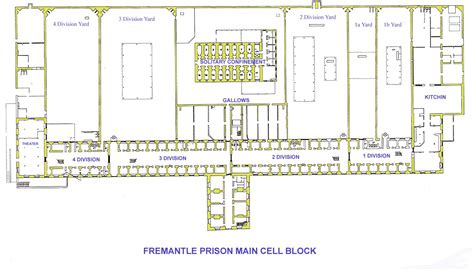prison floor plan fremantle prison