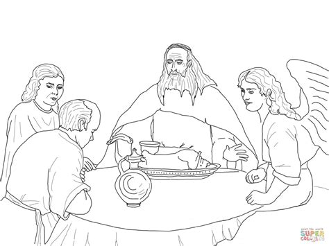 angels visit abraham coloring page 301 moved permanently