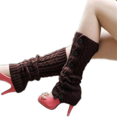 sock boots for legs 5 color new wool knit leg boots socks ebay