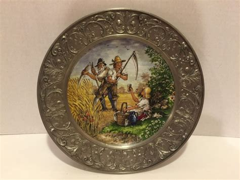 fall decorative plates pewter fall decorative wall plate bmf 95 zinn