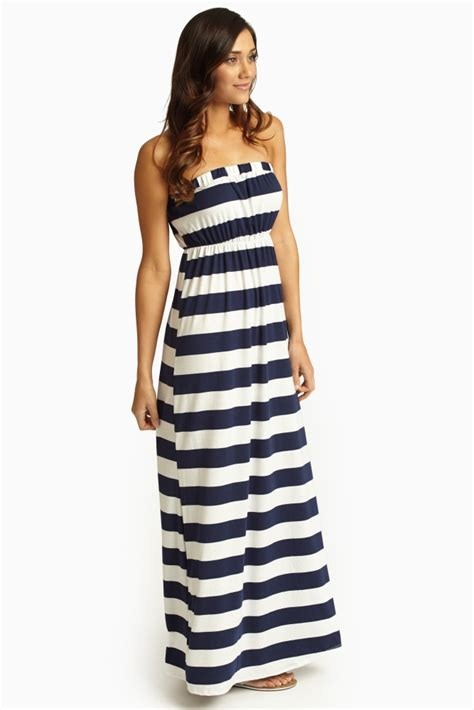 Striped Maxi Dress navy maxi dress dressed up