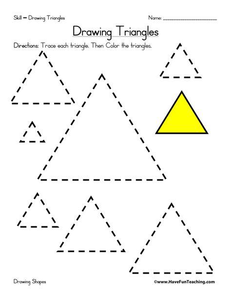 triangle printable worksheets for preschoolers drawing triangles worksheet have fun teaching