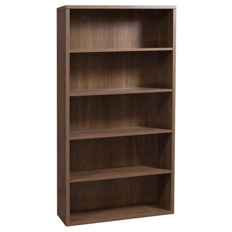 used bookshelves hon used 5 shelf laminate bookcase walnut national