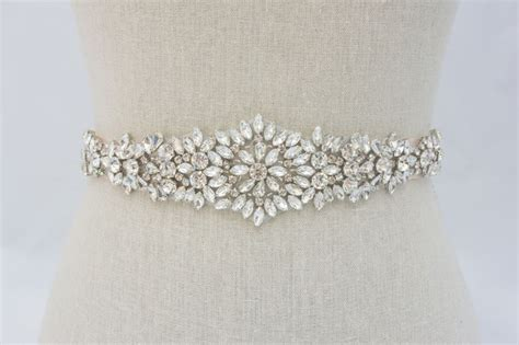 rhinestone applique wedding applique bridal sash