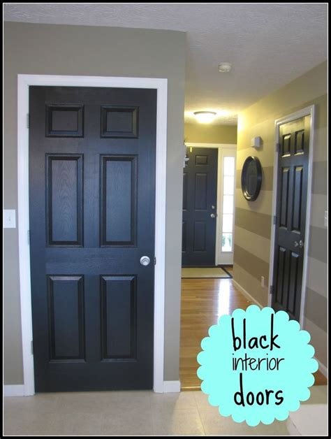 this look black painted interior doors plus a neat hint on painting them painting the