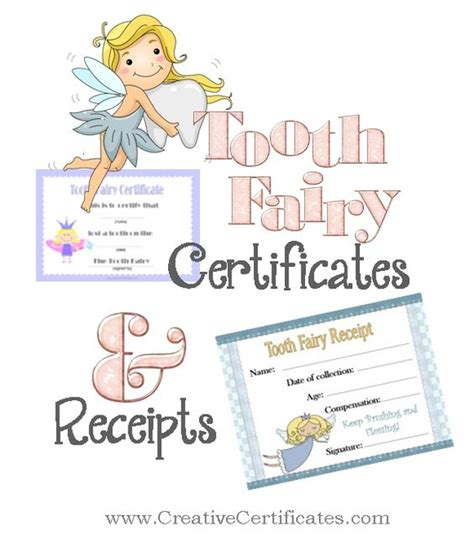 printable dental receipts free printable tooth fairy certificates and receipts for